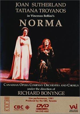 歌劇『ノルマ』全曲 サザーランド、トロヤノス、ボニング、ほか(1981)