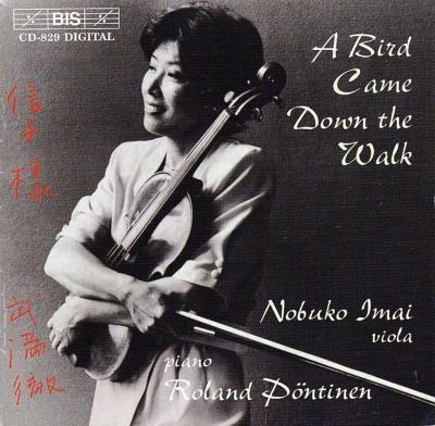 A Bird Came Down The Walk: 今井信子(Va)Pontinen(P)