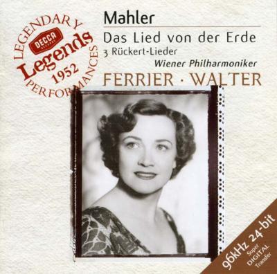 Das Lied Von Der Erde: Walter / Vpo, Ferrier(A)patzak(T)+ruckert Lieder