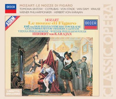 歌劇『フィガロの結婚』全曲 カラヤン&ウィーン・フィル、ヴァン・ダム、コトルバス、シュターデ、T.-シントウ、他