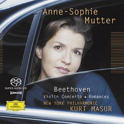 ヴァイオリン協奏曲、ロマンス第1、2番 ムター、マズア&ニューヨーク・フィル