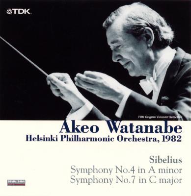 交響曲第4番、第7番 渡辺暁雄&ヘルシンキ・フィル(1982年ライヴ)