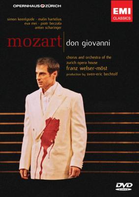 歌劇『ドン・ジョヴァンニ』全曲 ベヒトルフ演出、 ウェルザー=メスト&チューリヒ歌劇場、キーンリーサイド、シャリンガー(2DVD)