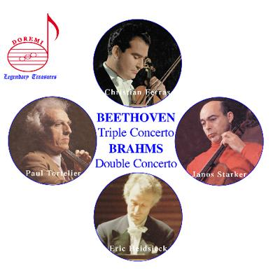 ブラームス:二重協奏曲、ベートーヴェン:三重協奏曲 フェラス、シュタルケル、トルトゥリエ、ハイドシェック、マルティノン指揮、他