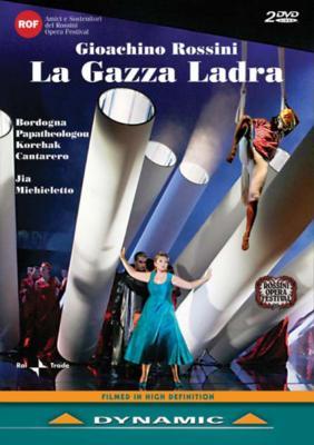 『泥棒かささぎ』全曲 ミキエレット演出、ジャ&ボルツァーノ・トレント・ハイドン管、ペルトゥージ、カンタレロ、他(2007 ステレオ)(2DVD)