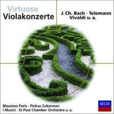 ヴィオラ協奏曲集 ズッカーマン、M.パリス、クリスト、他