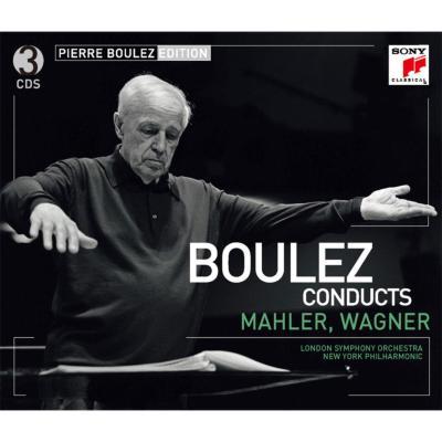 マーラー:嘆きの歌、ワーグナー:使徒の愛餐、管弦楽曲集 ブーレーズ&ロンドン響、ミントン、他(3CD)