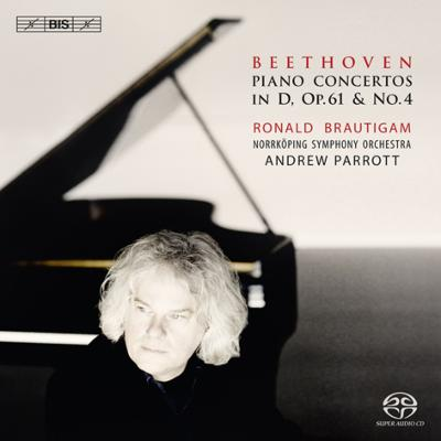 ピアノ協奏曲第4番(改訂版)、ヴァイオリン協奏曲(ピアノ版) ブラウティハム、パロット&ノールショピング響