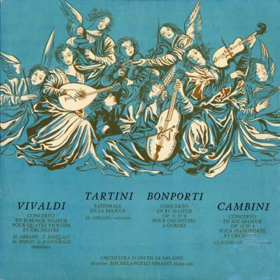 イタリア・バロック協奏曲集 ミケランジェロ・アバド&ミラノ弦楽合奏団、クラウディオ・アバド(ピアノ)