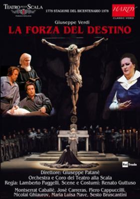 『運命の力』全曲 プジェッリ演出、パターネ&スカラ座、カレーラス、カバリエ、カプッチッリ、他(1978 モノラル)(2DVD)
