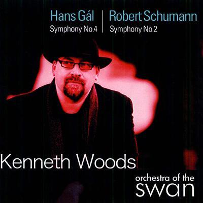 シューマン:交響曲第2番、ガル:交響曲第4番『協奏交響曲』 ケネス・ウッズ&オーケストラ・オヴ・ザ・スワン