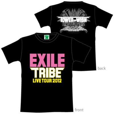 (受付終了)ツアーtシャツ Xs / Black: Exile Tribe Live Tour 2012 Tower Of