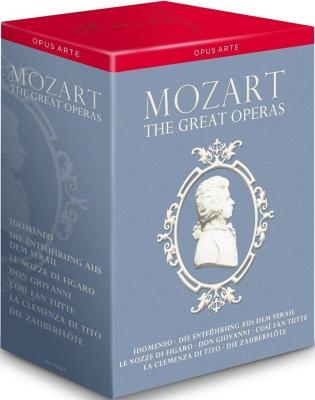 モーツァルト・オペラ・ボックス〜7つのオペラ全曲 パリ・オペラ座、グラインドボーン音楽祭、ザルツブルク音楽祭、ミラノ・スカラ座、他(13DVD)