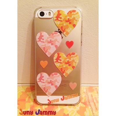 iPhone5&5sケース オレンジカモフラージュ 淳士プロデュースブランド/Juny Jammy【Loppi&HMV限定特典】