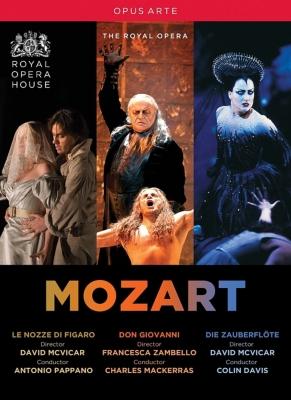 『フィガロの結婚』全曲(パッパーノ)、『魔笛』全曲(コリン・デイヴィス)、『ドン・ジョヴァンニ』全曲(マッケラス) コヴェント・ガーデン王立歌劇場(5DVD)