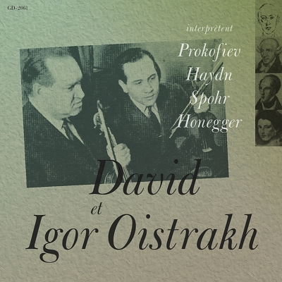 D & I.oistrakh: Prokofiev, Haydn, Spohr, Honegger +j.s.bach: Brandenburg Concerto, 4, : Barshai /