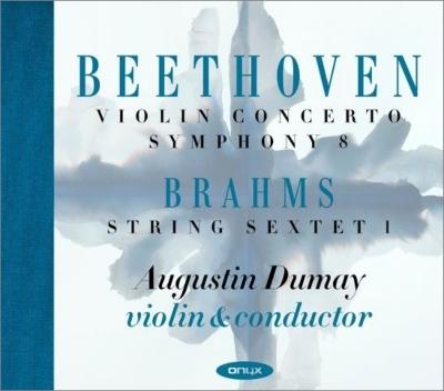 ベートーヴェン:ヴァイオリン協奏曲、交響曲第8番、ブラームス:弦楽六重奏曲第1番 デュメイ、シンフォニア・ヴァルソヴィア、関西フィル、他(2CD)