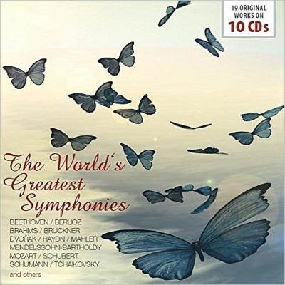 世界の名交響曲集~ベートーヴェン、ブラームス、ブルックナー、ドヴォルザーク、メンデルスゾーン、シューマン、ベルリオーズ、チャイコフスキー、モーツァルト、他(10CD)