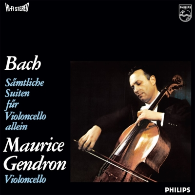 無伴奏チェロ組曲全曲:モーリス・ジャンドロン(チェロ) (BOX仕様/3枚組/180グラム重量盤レコード)