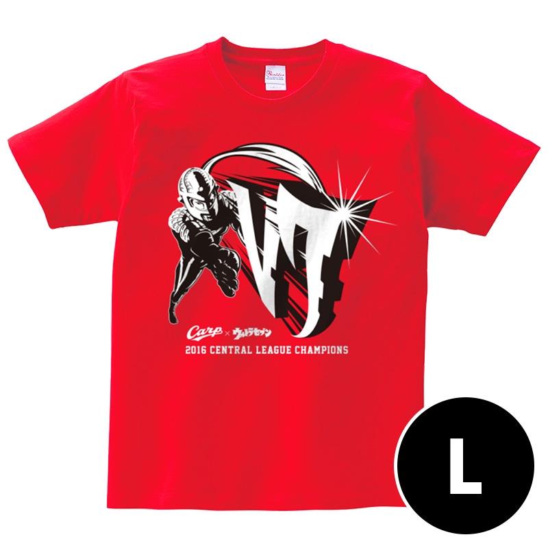 コラボTシャツ【L】 / 広島カープ×ウルトラセブン