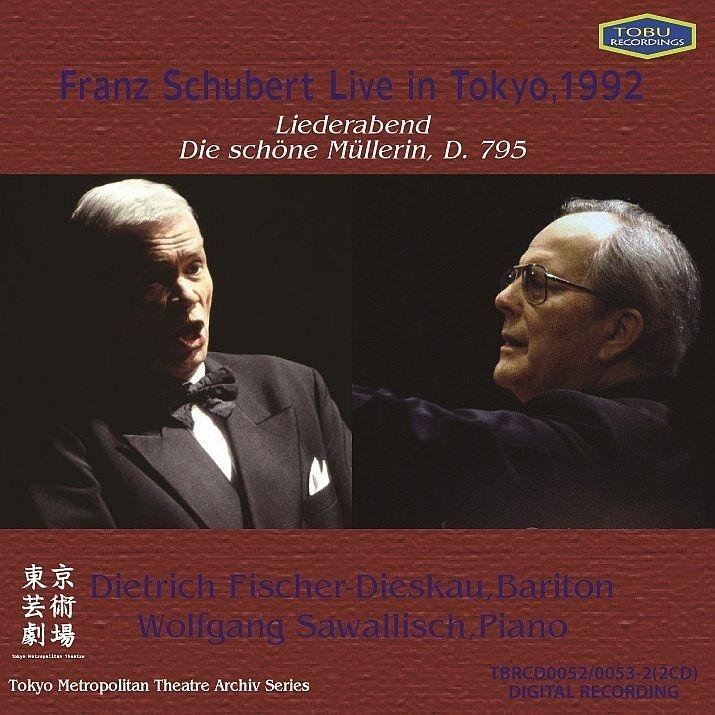 Schubert Live in Tokyo -Lider Abend, Die Schone Mullerin : Dietrich Fischer-Dieskau(Br)Wolfgang Sawallisch(P)(1992)(2CD)