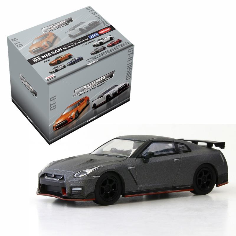 KYOSHO 1/64 NISSAN GT-R & GT-R NISMOミニカーコレクション(6個入りBOX+GT-R NISMOブラックパールカラーVer.)≪Loppi・HMV先行販売≫
