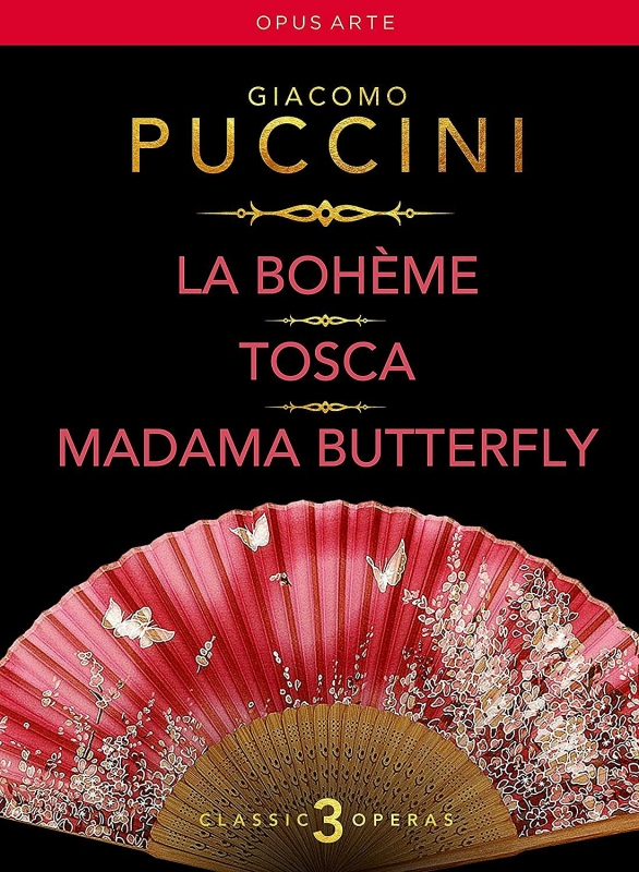 『ボエーム』全曲(マドリード王立歌劇場 2006)、『トスカ』全曲(マドリード王立歌劇場 2004)、『蝶々夫人』全曲(ネーデルラント・オペラ 2003)(6DVD)