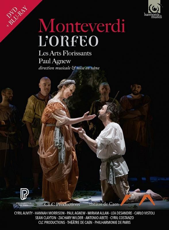 『オルフェオ』全曲 ポール・アグニュー指揮&演出、レザール・フロリサン、シリル・オーヴィティ、ハンナ・モリソン、他(2017 ステレオ)(+DVD)