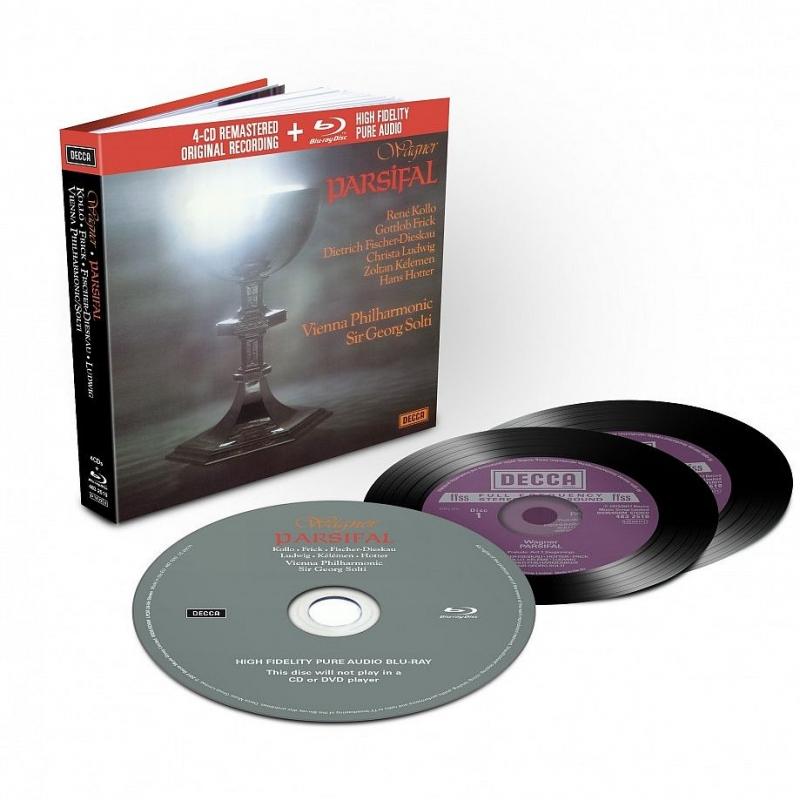 Parsifal : Georg Solti / Vienna Philharmonic, F-Dieskau, Hotter, Frick, Kollo, Ludwig, Kelemen, etc (1971-72 Stereo)(4CD)(+blu-ray Audio)