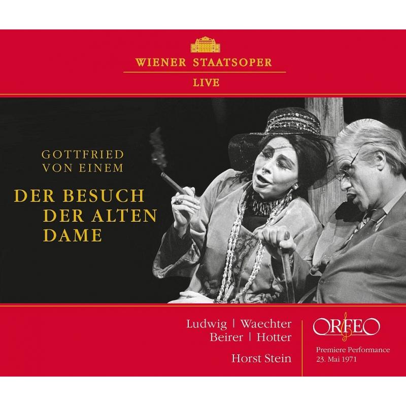 『老婦人の訪問』全曲 ホルスト・シュタイン&ウィーン国立歌劇場、クリスタ・ルートヴィヒ、エーベルハルト・ヴェヒター、他(1971 ステレオ)(2CD)