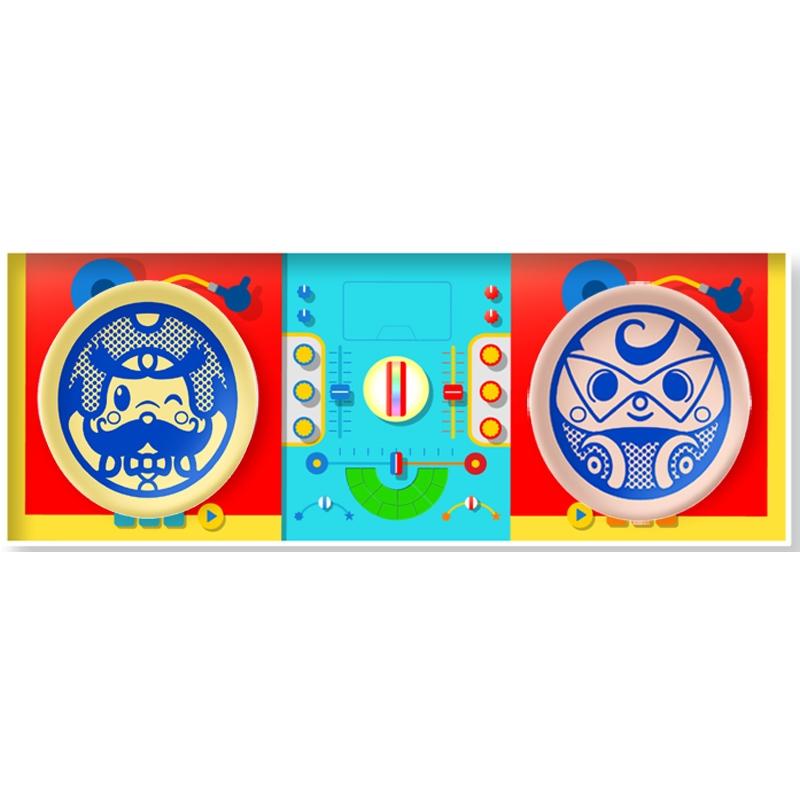 オトッペレコード豆皿 デラックスDJ紙箱セット ウィンディパパ & モータロンセット (波佐見焼き)/オトッペ