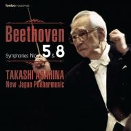朝比奈隆&新日本フィル/ベートーヴェン:交響曲第5番『運命』、第8番
