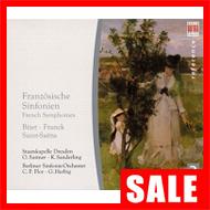 【在庫特価】フランク:交響曲(クルト・ザンデルリング)、ビゼー:交響曲(スイトナー)、他(2CD)