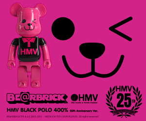 BE��RBRICK HMV BLACK POLO 400�� 25th Anniverasry ver.