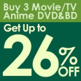 Buy 3 or More Anime, Movie, TV DVD & Blu-ray Discs for Up to 26% Off!