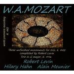 ヒラリー・ハーン、レヴィン、ムニエ/モーツァルト:ピアノ三重奏曲集
