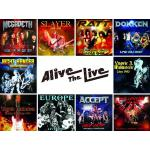 Alive The Liveシリーズ 4月発売にメガデス、スレイヤー、...