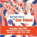 サンタナ 1975年12月31日サンフランシスコ・カウパレス公演を2C...