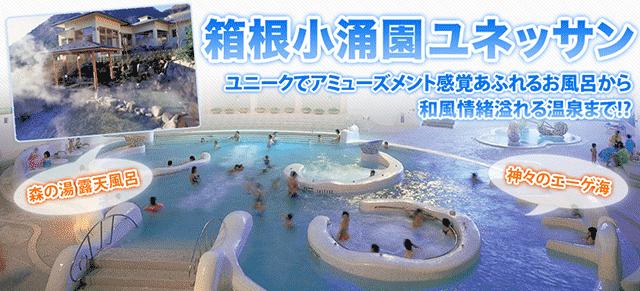 箱根小涌園ユネッサン ※発券日より1ヶ月有効