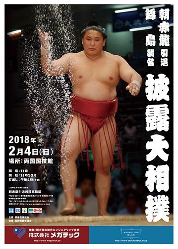 朝赤龍引退 錦島襲名 披露大相撲