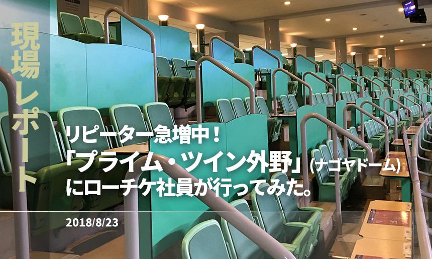 [現場レポート]リピーター急増中!「プライム・ツイン外野」(ナゴヤドーム)に行ってみた。