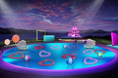 CanCamxGrand Prince Hotel Hiroshima Night Pool