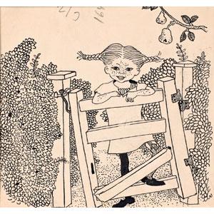 ピッピ 船にのる 挿絵原画