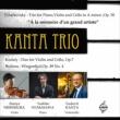Piano Trio: Kanta Trio +kodaly: Duo, Brahms
