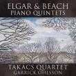 エルガー:ピアノ五重奏曲、ビーチ:ピアノ五重奏曲 ギャリック・オールソン、タカーチ四重奏団