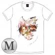 蝶の飛ぶTシャツ[ホワイト / L]