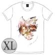 蝶の飛ぶTシャツ[ホワイト / XL]