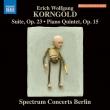 組曲、ピアノ五重奏曲 スペクトラム・コンサーツ・ベルリン