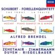 シューベルト:ます、モーツァルト:ピアノ四重奏曲第1番 アルフレート・ブレンデル、トーマス・ツェートマイアー、タベア・ツィンマーマン、他