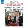 (Flute)clarinet Sonata, 1, 2, Lieder Arrangements: Karl-heinz Schutz(Fl)M.prinz(P)
